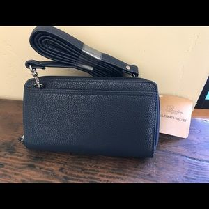 Buxton Crossbody Wallet in Navy